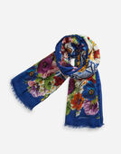 PRINTED MODAL AND CASHMERE SCARF (135 X 200)
