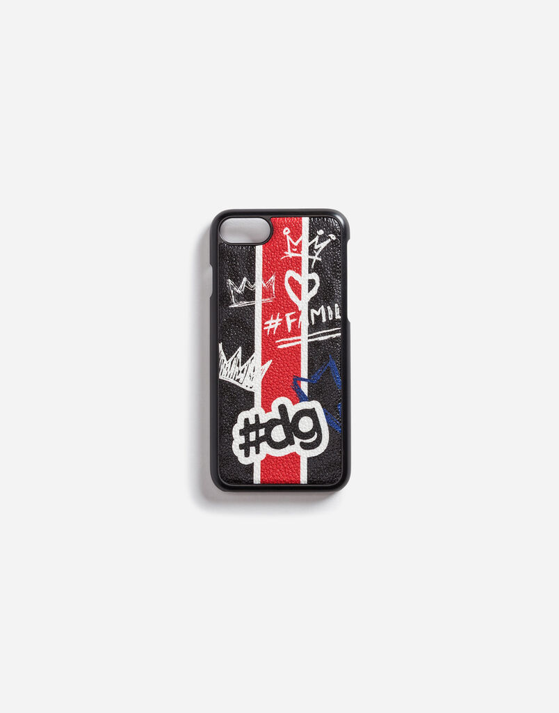 IPHONE 7 COVER IN PRINTED LEOPARD CREPE CALFSKIN