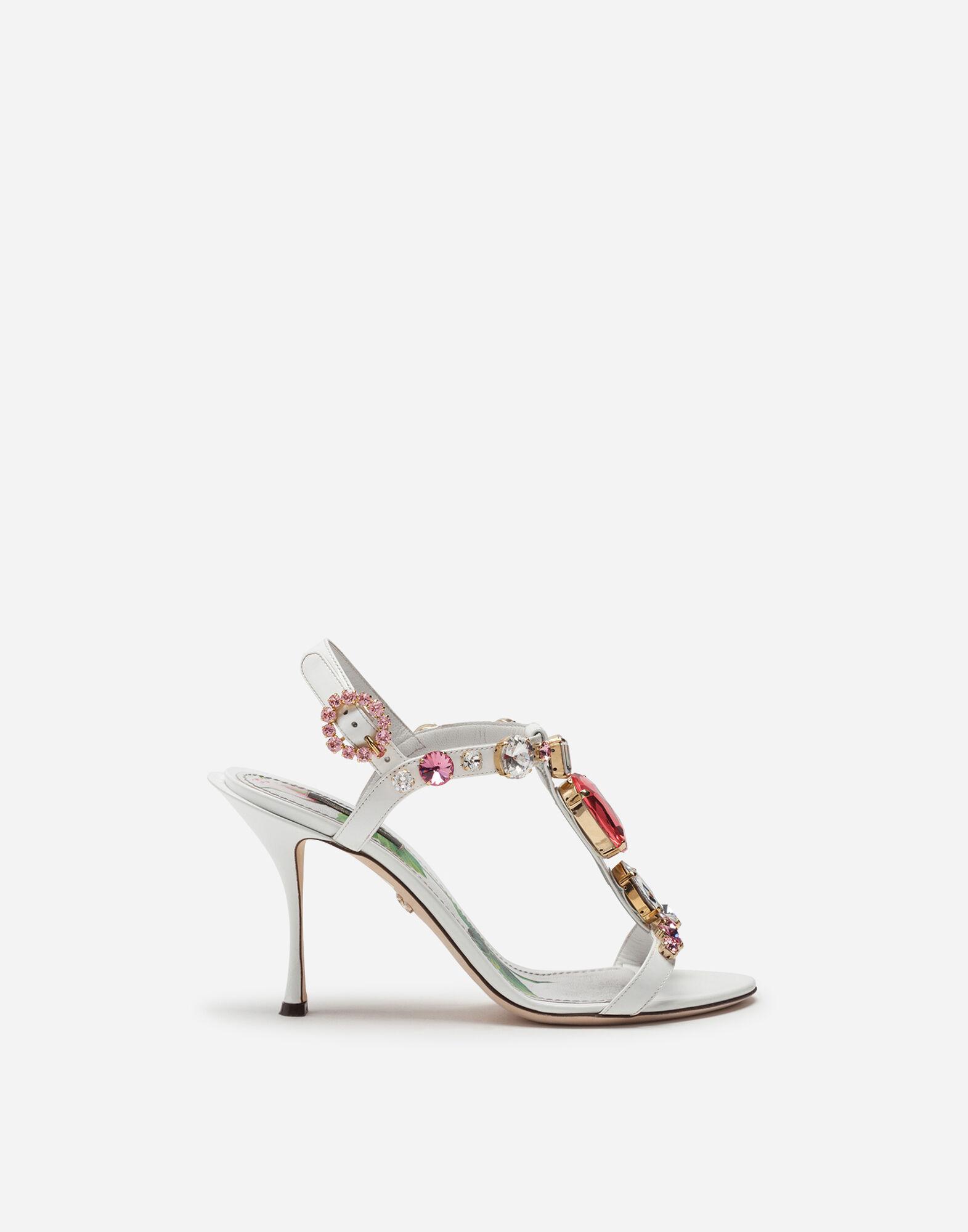 Sandalo T Strap In Vernice Scarpe Donna | Dolce&Gabbana