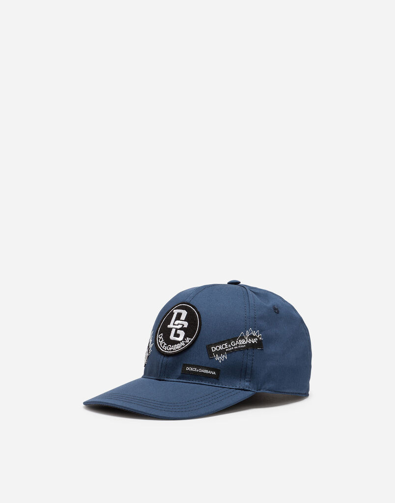 BASEBALL CAP IN STRETCH COTTON WITH PATCHES