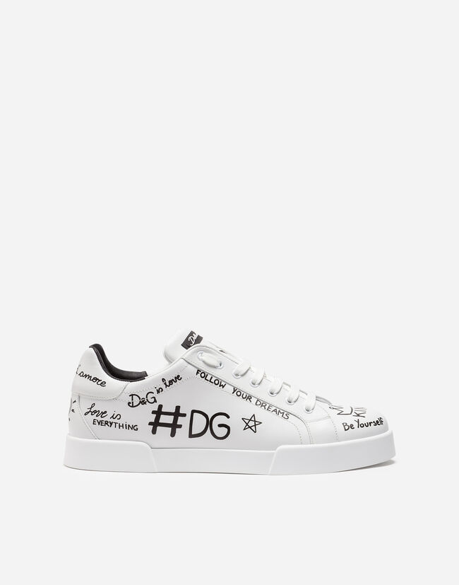 PORTOFINO SNEAKERS IN PRINTED CALFSKIN
