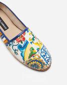 Dolce&Gabbana CANVAS AND CALFSKIN ESPADRILLES