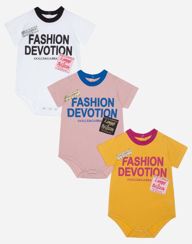 Dolce&Gabbana PRINTED COTTON BODYSUIT
