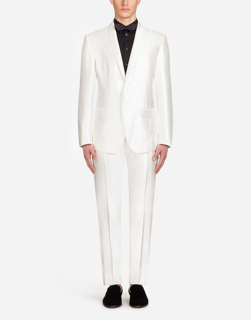 MARTINI-FIT SUIT IN SILK SHANTUNG
