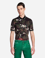 POLO IN PRINTED COTTON