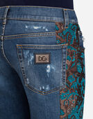 Dolce&Gabbana CAPRI FIT STRETCH JEANS WITH DETAIL