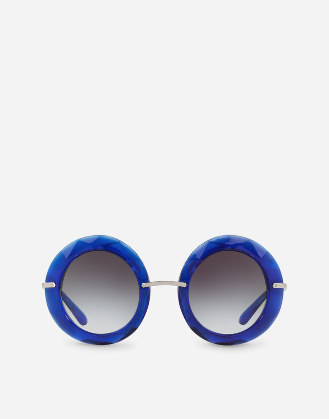 Dolce & Gabbana ROUND SUNGLASSES IN METAL AND ACETATE