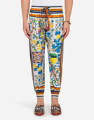 Dolce&Gabbana PRINTED COTTON JOGGING PANTS