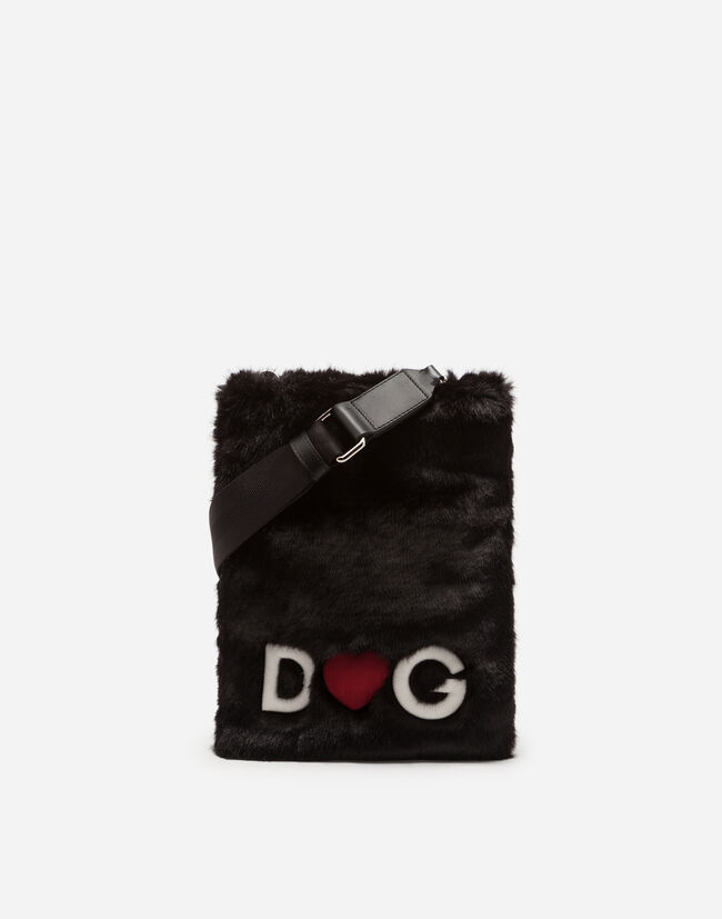 Dolce&Gabbana CROSS-BODY BAG IN FAUX FUR
