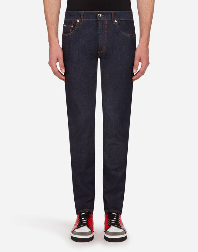 DARK BLUE COMFORT-FIT STRETCH JEANS