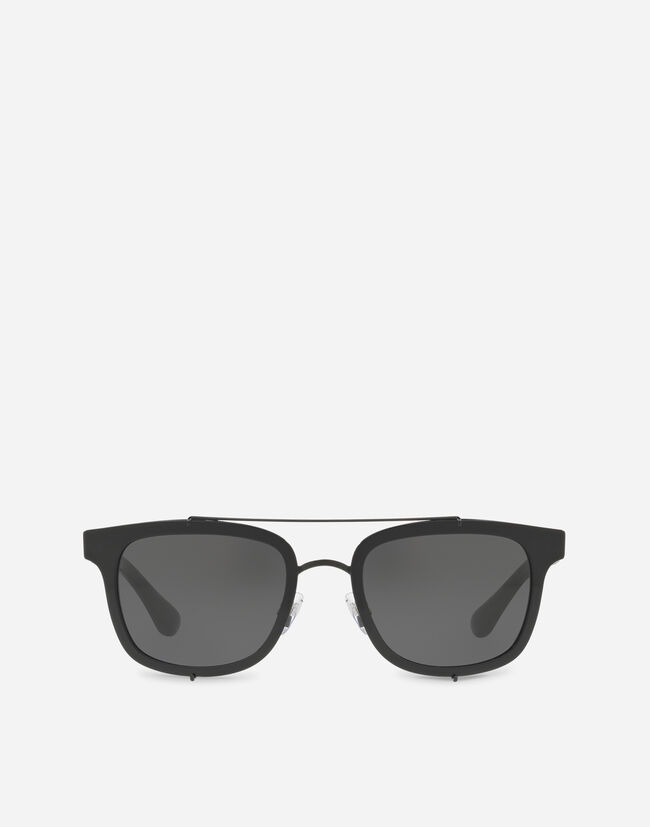 Dolce & Gabbana SQUARE SUNGLASSES WITH A METAL FRAME