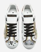 Dolce&Gabbana PRINTED CALFSKIN PORTOFINO SNEAKERS