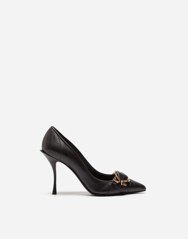 Dolce & Gabbana DEVOTION PUMPS IN MATELASSÉ NAPPA LEATHER