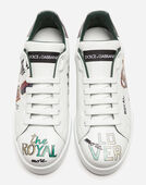 Dolce & Gabbana PORTOFINO SNEAKERS IN PRINTED CALFSKIN