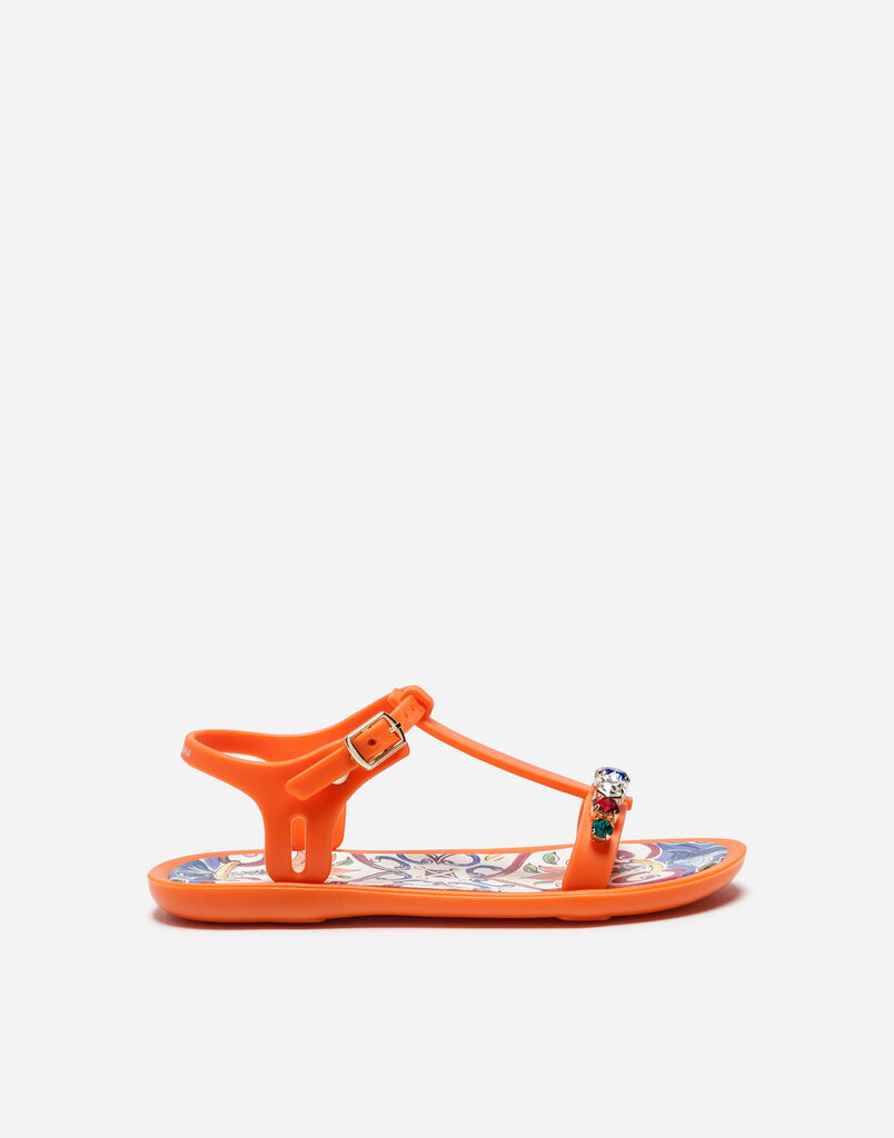 RUBBER SANDALS WITH EMBROIDERY