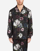 PAJAMA BLOUSE IN PRINTED SILK