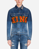 Dolce&Gabbana DENIM JACKET WITH PATCH