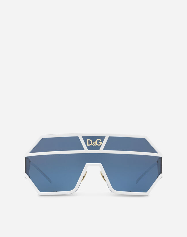 OVAL SUNGLASSES WITH DG LOGO APPLIQUÉ