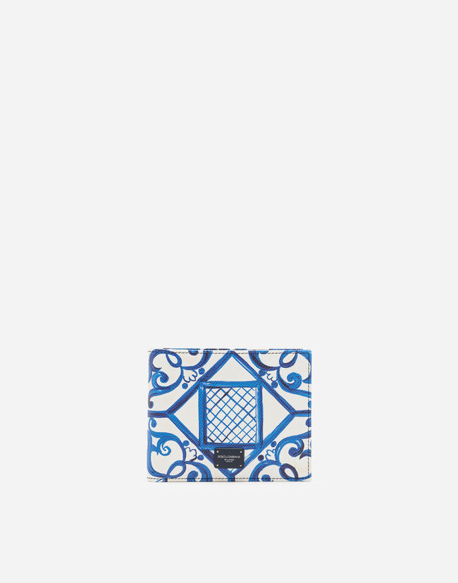 Dolce&Gabbana BIFOLD WALLET IN PRINTED DAUPHINE CALFSKIN