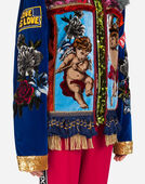 Dolce & Gabbana VELVET JACKET WITH PATCHES