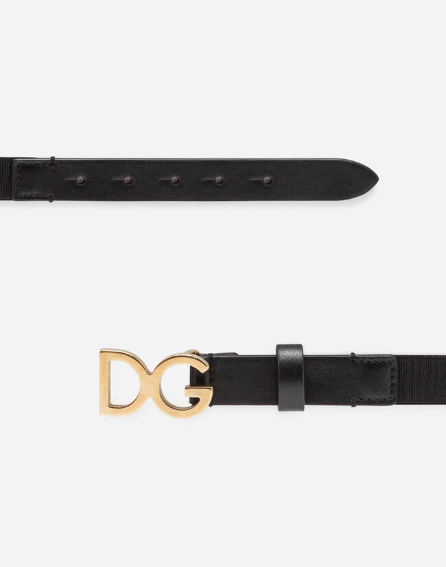 Dolce & Gabbana ELASTIC WEBBING BELT WITH DG BUCKLE