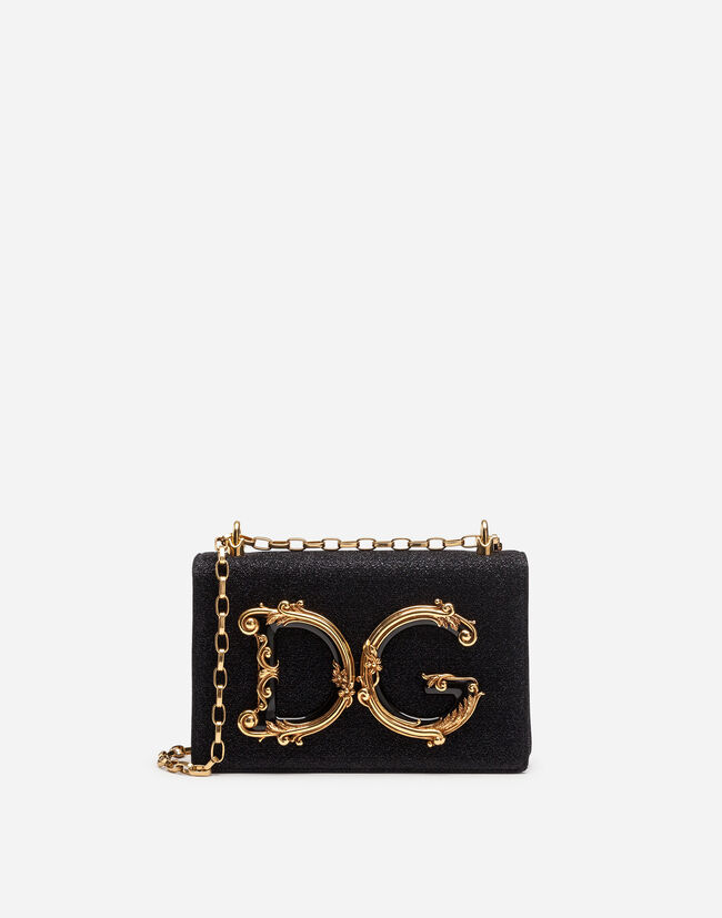 Dolce&Gabbana DG GIRLS COSS-BODY BAG IN SOFT LUREX