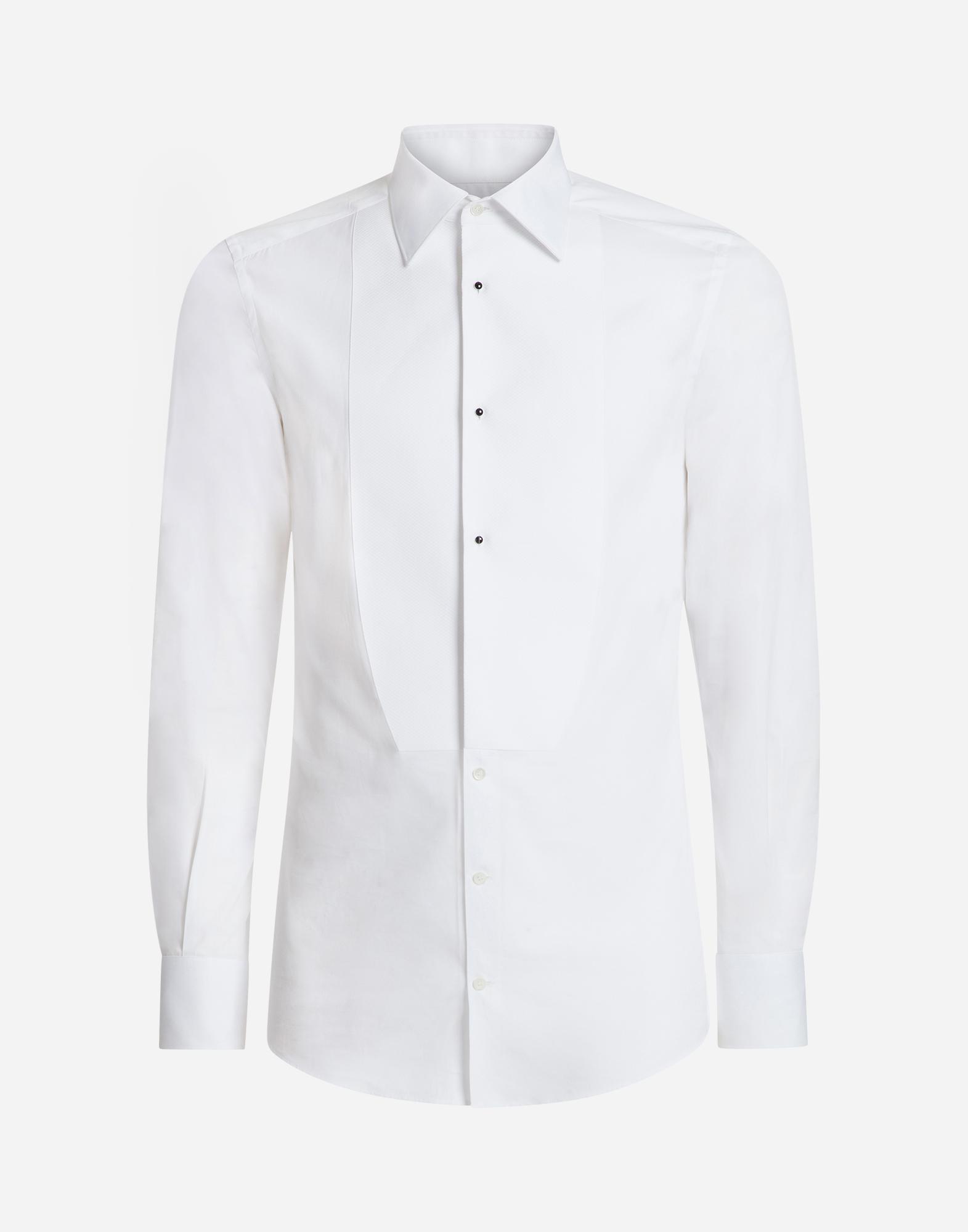Men's shirts | Dolce&Gabbana - GOLD FIT TUXEDO SHIRT IN COTTON POPLIN